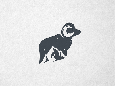Goat Mountain Logo mountain logo goat logo mountain goat company inspiration hidden meaning dualmeaning animal icon awesome vector illustration graphic designer branding brand design logo