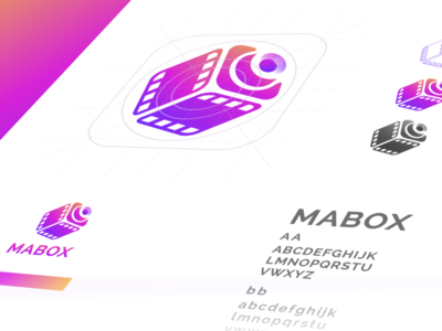 MaBox movie logo camera logo camera icon camera movie film monogram dualmeaning inspiration app icon awesome vector illustration graphic designer branding brand design logo