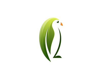 Penguin Leaf leaf logo leaf penguin logo penguin app hidden meaning animal dualmeaning art company inspiration icon vector illustration graphic designer branding brand design logo