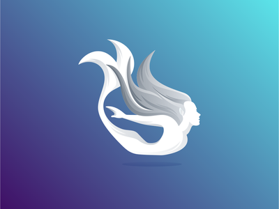 Mermaid mermaid ux ui art mithology people animal inspiration icon awesome vector illustration graphic designer branding brand design logo
