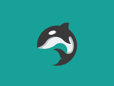 Orca with Circle Shape Design