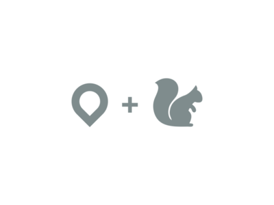 PinRel Logo garagephic studio pin logo squirrel logo squirrel location app pin illustration dualmeaning icon vector graphic designer branding brand design logo