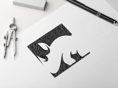 Rhino Logo Sketch