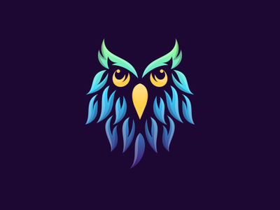 Owl with Gradient Colors