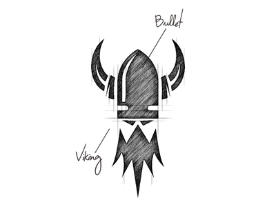 Bullet Viking Design Combination negative space garagephic studio head viking viking logo viking bullet logo bullet icon dualmeaning illustration vector graphic designer branding brand design logo