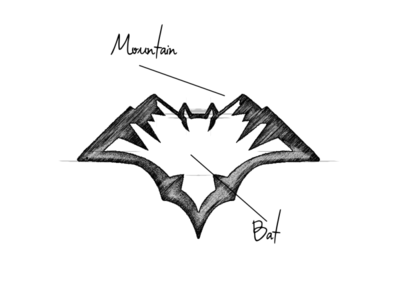 Mountain Bat  Design Combination