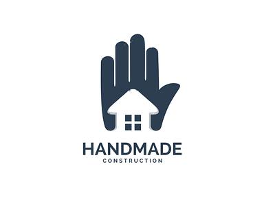 Handmade Construction Logo garagephic studio handmade logo hand logo hand construction logo home logo construction home inspiration icon vector illustration graphic designer branding brand design logo