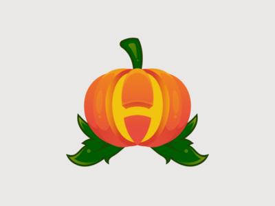 Pumpkin + letter H for Halloween