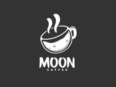 Moon Coffee Logo Combination