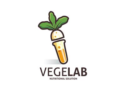 VegeLab Logo Design bottle dual meaning logo garagephic studio laboratory logo vegetable logo lab laboratory vegetable vegetarian app dualmeaning icon vector illustration graphic designer branding brand design logo
