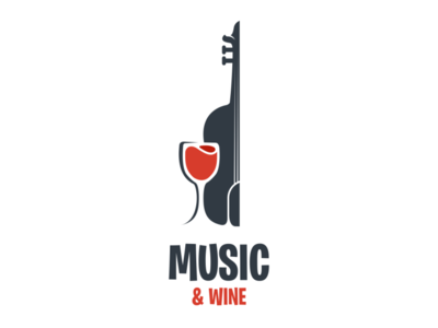 Music & Wine Logo Concept