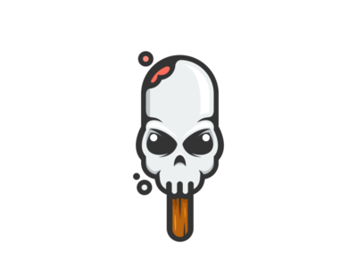 Skull Ice Cream ice cream stick ice cream cone garagephic studio combination  design dualmeaning ice cream logo ice cream skull logo skull inspiration icon vector illustration graphic designer branding brand design logo