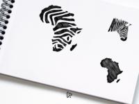 African Zebra Logo Design