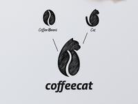 Coffee Cat Logo Combination