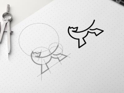 Monogram Dog Logo garagephic studio simple minimalist dog logo dog inspiration icon vector illustration graphic designer branding brand design logo