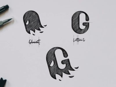 Ghost with Letter G