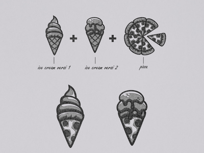 PIZZA ICE CREAM