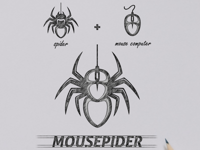 mousepider logo design