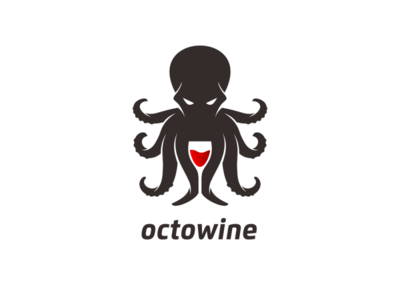 octowine logo design dualmeaning awesome inspiration wine octopus octopus logo octo graphic illustration designer branding brand logo design