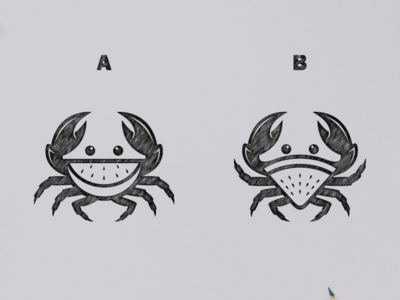 Crab watermelon logo concept