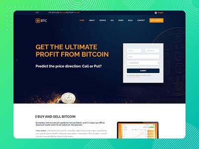 BTC Web Design landing page design bitcoin exchange bitcoin wallet btc design bitcoin services web design ui design ux research design ux design illustration icon branding app design