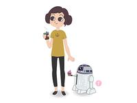 Leia & r2d2