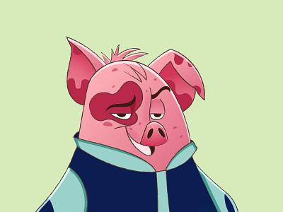 NFT Character - PIG animal nfft design nft digital art pig pig character vector illustration character design character nft art nft character