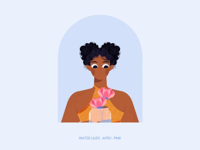 The Afro Girl design vector illustration digital illustration adobeillustration inktober facetober challenge badass women people illustrator 2d typography person face girl avatar potrait character