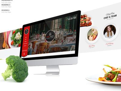 Restaurant Website restaurant typography minimal logo website ux ui illustration design branding