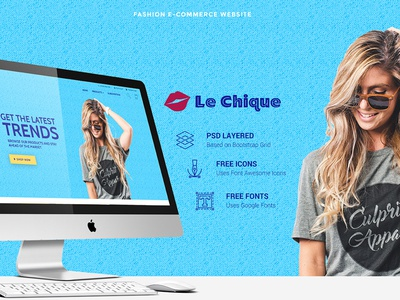 Le Chique ecommerce shop branding vector minimal flat illustration design typography website ui