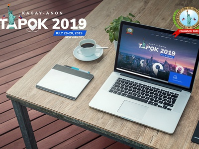 Tapok 2019 (Template 2) minimal typography design web ux logo branding website ui