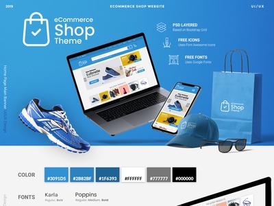 Ecommerce Shop theme shop mockup ux ui ecommerce wordpress online shop woocommerce googlefont fontawesome bootstrap responsive uiux web