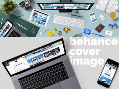 Behance Cover Image design desk portfolio businesscard workstation presentation hero image desktop profile cover cover image cover photo