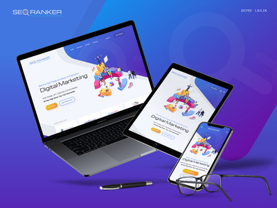 Landing Page - Seo ux ui design homepage landing page website presentation digital marketing wordpress seo woocommerce googlefont flaticon premium fontawesome responsive uiux web