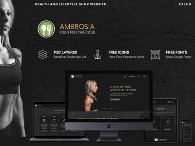 Gym Food Website delivery membership webapp wordpress flaticon googlefont fontawesome bootstrap responsive uiux web