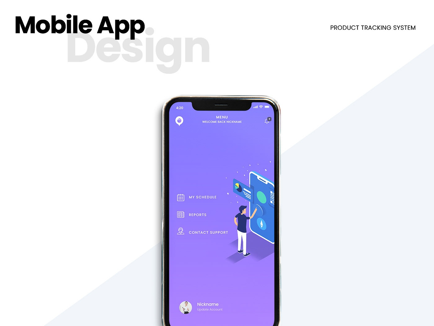 Mobile App Design - Product Tracking System mobile interaction adobe xd mobile design hybrid app mobile app development mobile app ux ui