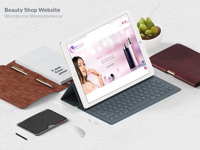 Beauty Shop Website website development mobile friendly website design woocommerce wordpress beauty shop googlefont fontawesome bootstrap responsive uiux web
