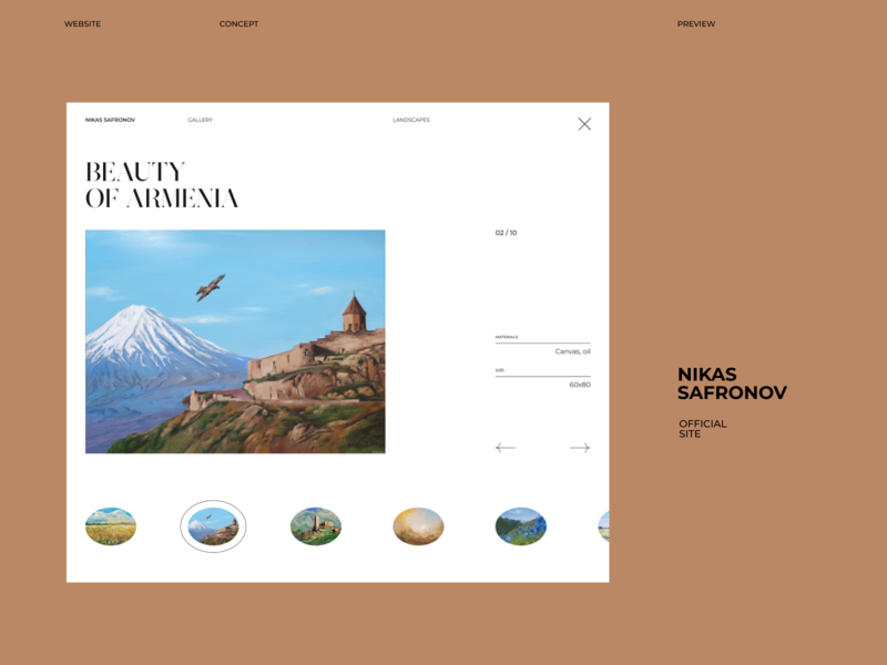 Nikas Safronov Website concept (preview) uidesign uxuidesign ui web design web webdesign
