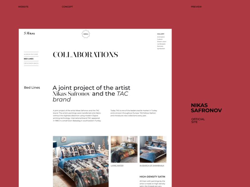 Nikas Safronov Website concept (preview) design ui uidesign uxuidesign web web design webdesign