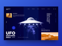 The concept of the design of the UFO fans website.
