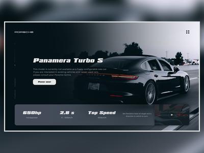Concept landing page for Porsche