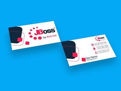 Business card design for JBoss mockup businesscard branding adobephotoshop design vector adobeillustrator
