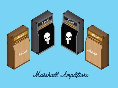Marshall Amplifiers Isometric blend graphic  design illustration digitalart vector design adobeillustrator