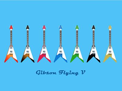 Gibson Flying V Vector art adobe illustration digitalart design vector adobeillustrator