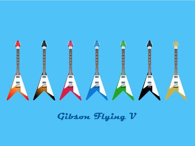 Gibson Flying V Vector art