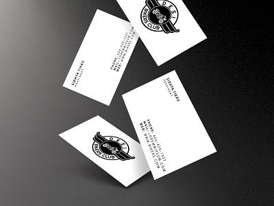 Desi Bikers Club Business Card design insignia club businesscard biking bikers mockup branding adobephotoshop logo adobe graphic  design illustration digitalart vector design adobeillustrator
