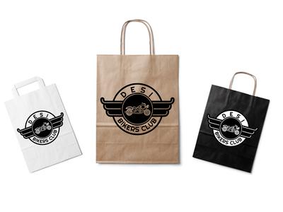 Desi Bikers Club Paper Bag Design