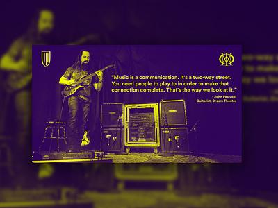 Music quote by John Petrucci metal dream theater petrucci john yellow purple creative quote music adobe adobephotoshop digitalart design