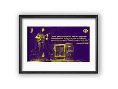 Music quote by John Petrucci dream theater petrucci john metal poster music adobe adobephotoshop digitalart design