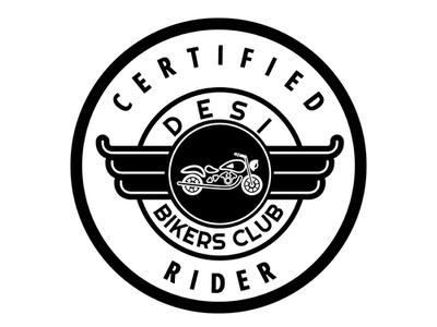 Desi Bikers Club Certified Biker Beer Coaster coaster insignia club biking bikers branding logo adobephotoshop adobe vector graphic  design illustration adobeillustrator digitalart design